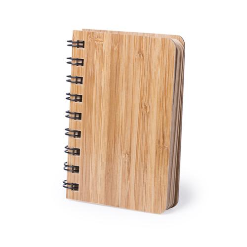 Блокнот Lemtun, твердая обложка, бамбук, 9 x 12 x 1,5 см, 80 листов