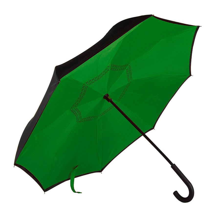 """Зонт-трость """"наоборот"""" ORIGINAL, пластиковая ручка, механический"""